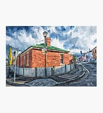 Red Brick House in Hobart Photographic Print