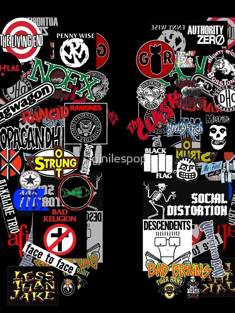 Punkrock-Aufkleberwand von gjnilespop