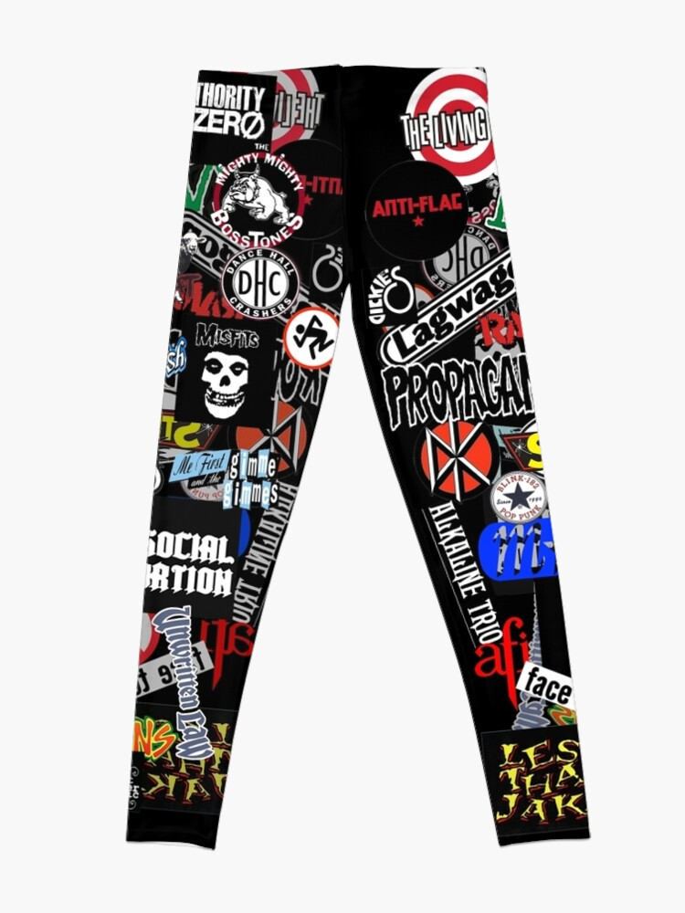 Alternative Ansicht von Punkrock-Aufkleberwand Leggings