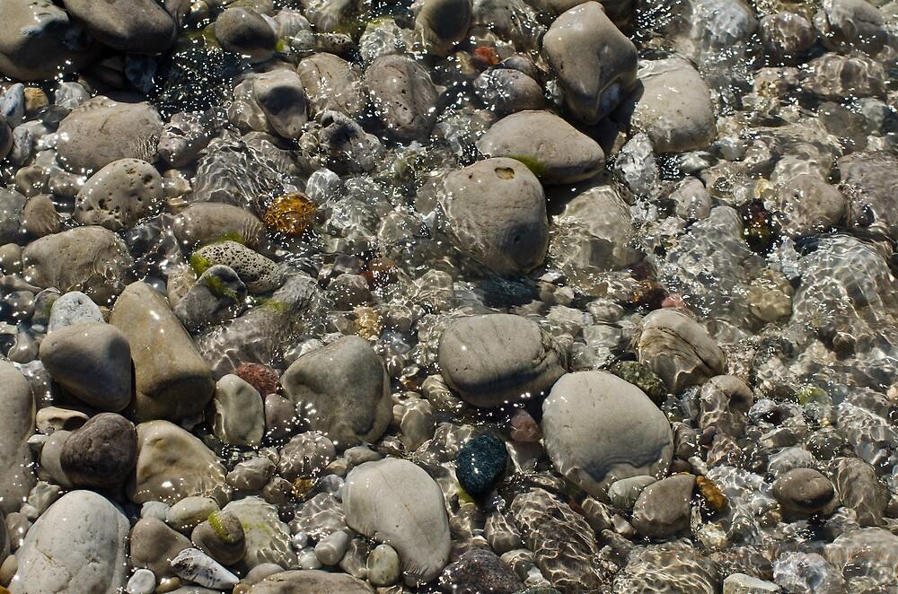 Rocks, Beach, River, Water by pramodmeee