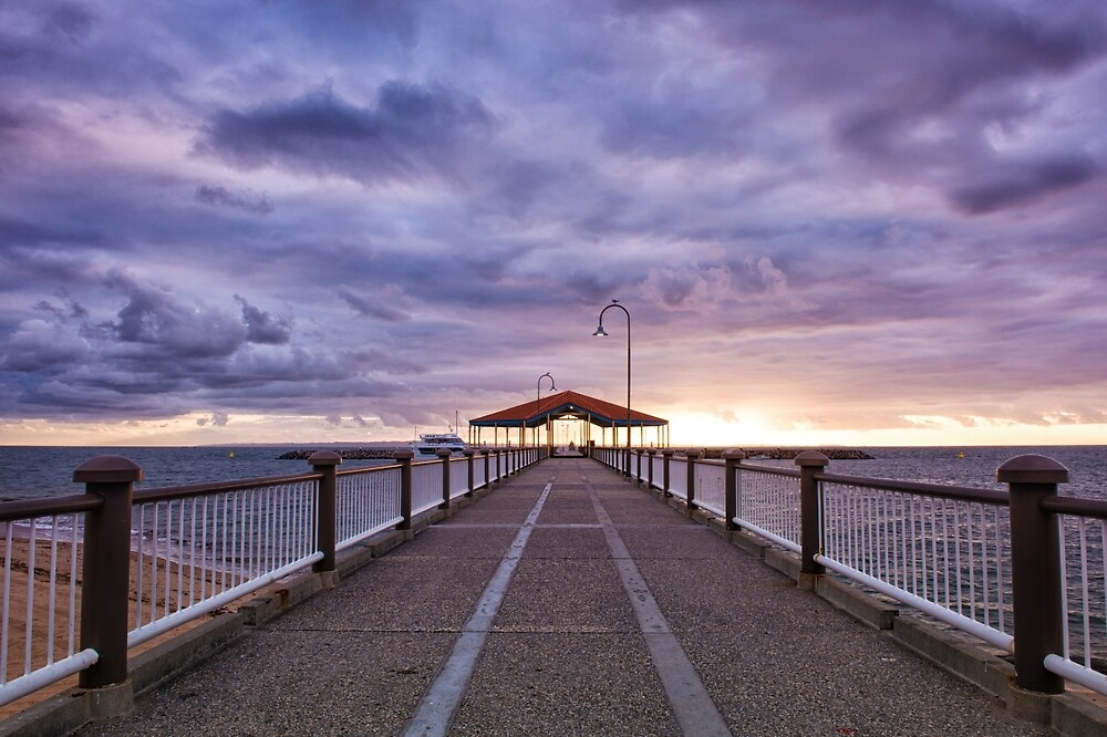 Redcliffe Jetty by Morning by Kristin Repsher