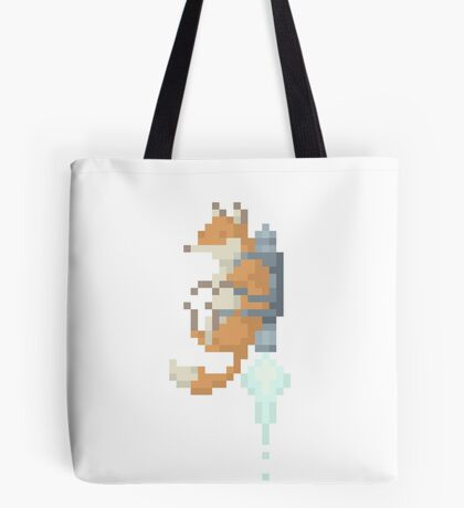Fox Jetpack Pixel Art Tote Bag