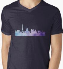 Paris watercolor Mens V-Neck T-Shirt