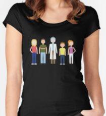 Camiseta entallada de cuello ancho Rick y Morty: la familia Smith