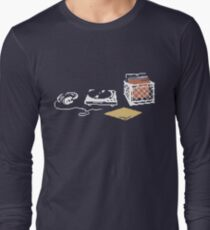 Vinyl Lover Pixel Art Long Sleeve T-Shirt