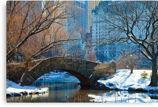 Quot Central Park Nyc Gapstow Bridge Quot Canvas Prints By
