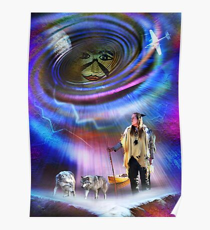 Face in the Vortex Poster