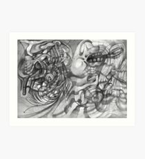 Extended Limb of an Octopus Painting a Picture. Art Print