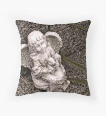 Tiny Angel Throw Pillow