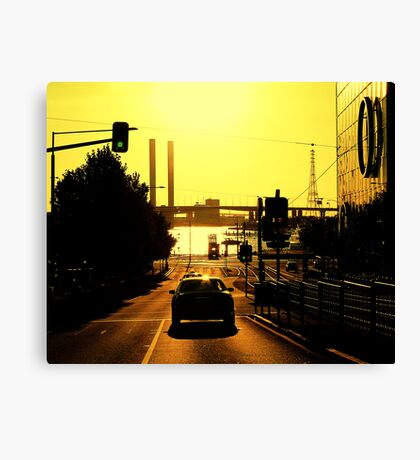 My city aglow Canvas Print