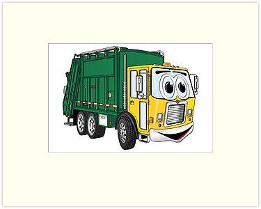 garbage truck cartoon - photo #6