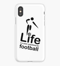 Soccer v Life - White iPhone Case/Skin