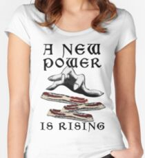 Bacon - A New Power is Rising in the Feast Women's Fitted Scoop T-Shirt