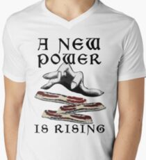 Bacon - A New Power is Rising in the Feast Men's V-Neck T-Shirt