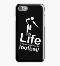 Soccer v Life - Black iPhone Case/Skin