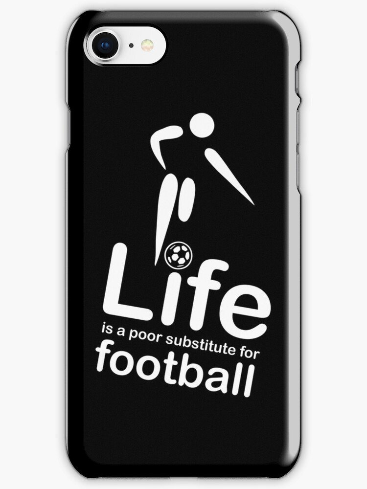 Soccer v Life - Black by Ron Marton