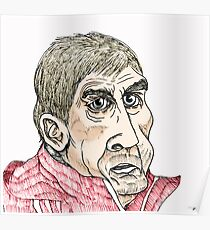 Kenny Dalglish Cartoon Caricature Poster