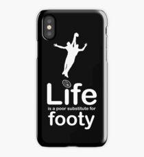 AFL v Life - Black iPhone Case/Skin