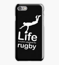 Rugby v Life - Black iPhone Case/Skin