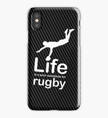 Rugby v Life - Carbon Fibre Finish iPhone Case/Skin