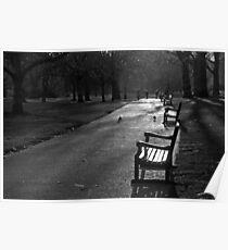 Empty seat, St James Park, London Poster