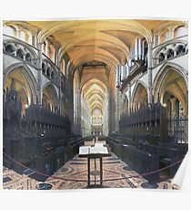 Quire and Nave, Truro Cathedral, England Poster