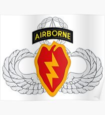 4th BCT Airborne 25th Infantry Poster