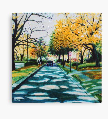 'Colony Road in November' Canvas Print