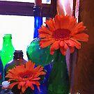 Flowers and Jars by artstoreroom
