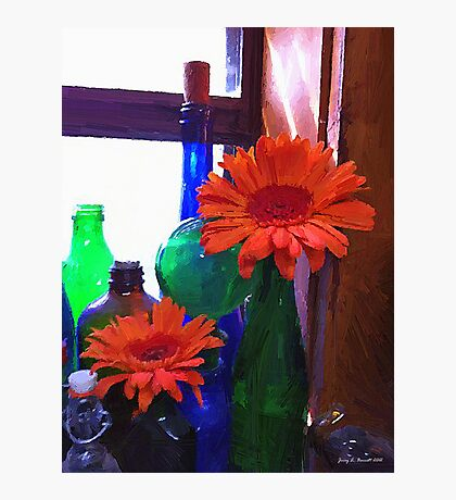 Flowers and Jars Photographic Print