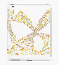 Geometric landscape orange drawing iPad Case/Skin