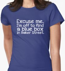 Blue Box in Baker Street Womens Fitted T-Shirt