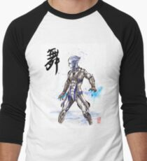 Mass Effect Liara Sumie style with Japanese Calligraphy Men's Baseball ¾ T-Shirt