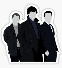 Sherlock,John and Jim Sticker