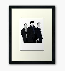 Sherlock,John and Jim Framed Print