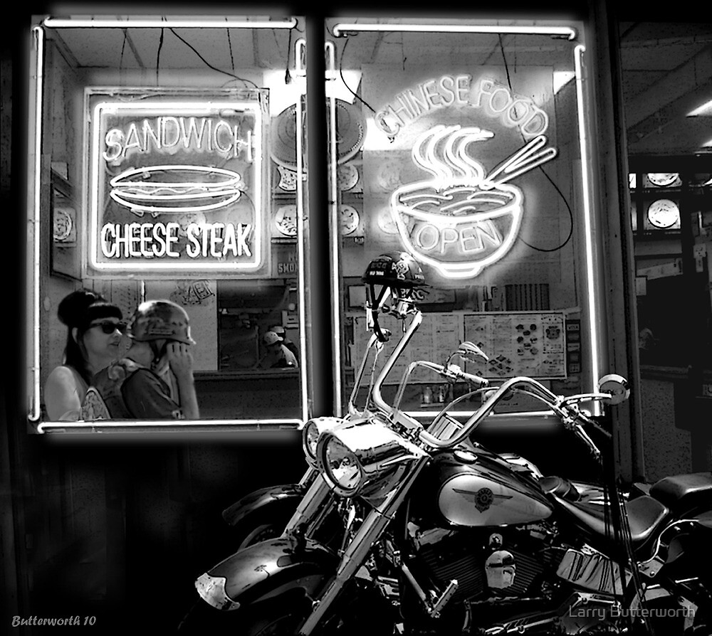 CHEESE STEAK AND CHINESE FOOD by Larry Butterworth