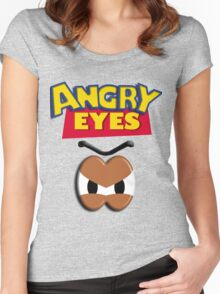 Angry Eyes Women's Fitted Scoop T-Shirt