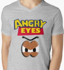 Angry Eyes Mens V-Neck T-Shirt