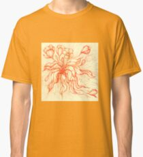 Bridal Bouquet. Hand drawn watercolor and ink drawing Classic T-Shirt