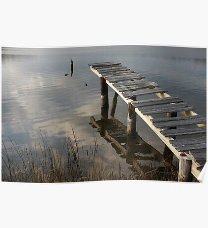 Weathered Dock Poster