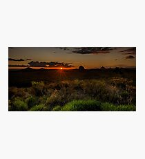 Glass House Mts Sunset Photographic Print