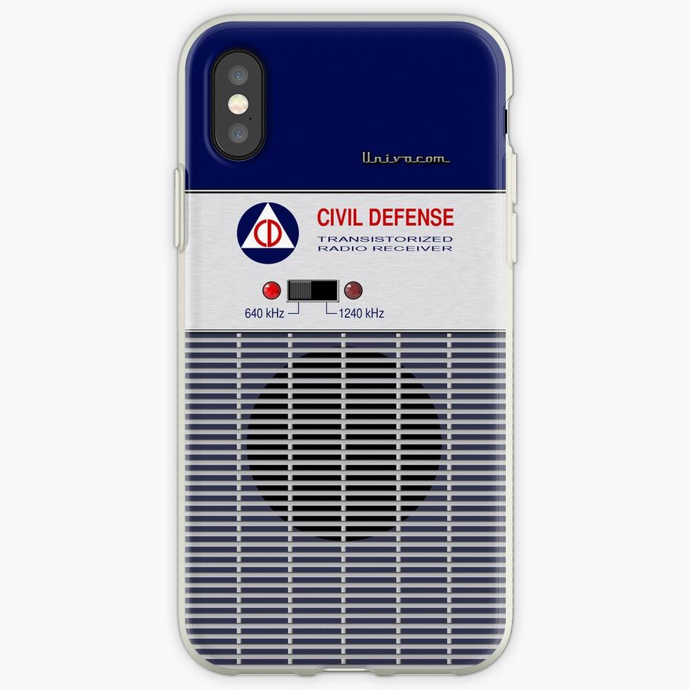 Radio de Defensa Civil Vinilos y fundas para iPhone