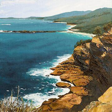 "Original oil painting: ""Ocean Vista"" - Kioloa, NSW, Australia by MartinLome"