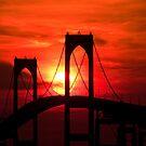 Newport (Pell) Bridge Silhouette by Eric Full