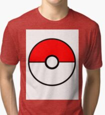 Simplistic Pokeball Tri-blend T-Shirt