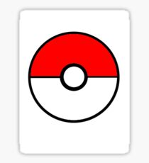 Simplistic Pokeball Sticker