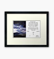 Gedig sonder naam Framed Print