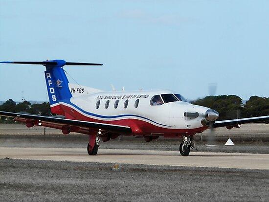 Australian Royal Flying Doctor Service Pilatus PC12 (VH-FGS) by Ben Scholz