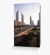 Sheikh Zayed road, Dubai Greeting Card