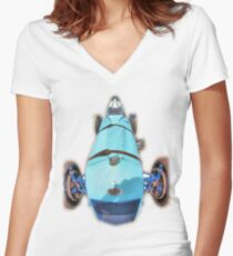 BWA Vintage Car Women's Fitted V-Neck T-Shirt